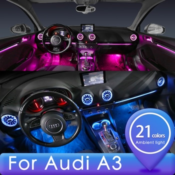For Audi A3 Atmosphere Light 21/32 Color A3 S3 RS3 Turbine Luminous Air Outlet Atmosphere Light For Original Modification