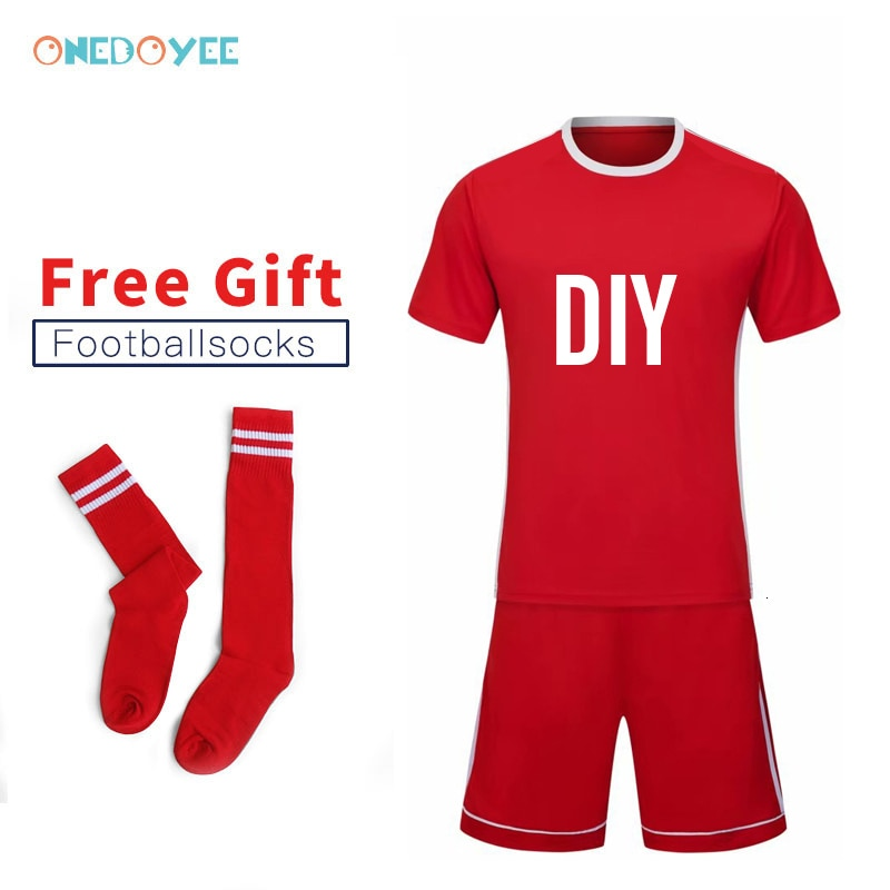 Equipo DIY Jerseys Kit hombres niños equipo de fútbol uniformes de fútbol universitario personalizado mejor calidad niños escuela fútbol camiseta de partido