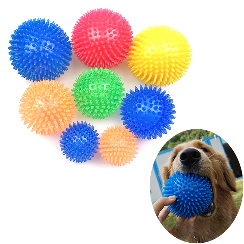 TPR Pet Dog Ball Squeak Dog Toys For Golden Retriever Large Dogs Spiked Ball TPR Dog Toy Balls Spike Ball Dog игрушки для собак