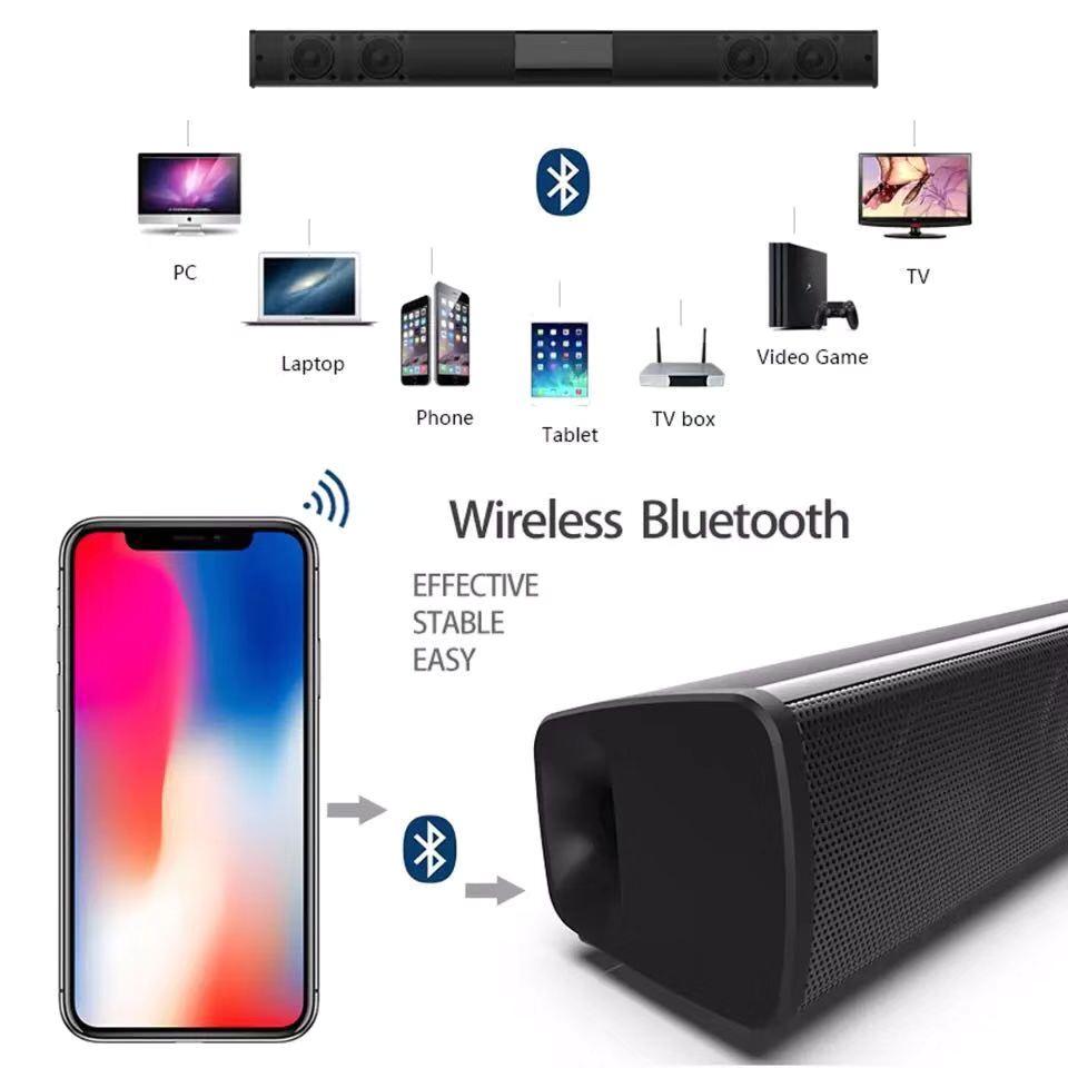 Free Gift 32G TF Card TV Speaker Bluetooth Speaker for Computer Soundbar Stereo Bluetooth Subwoofer Column Support FM Radio RCA enlarge