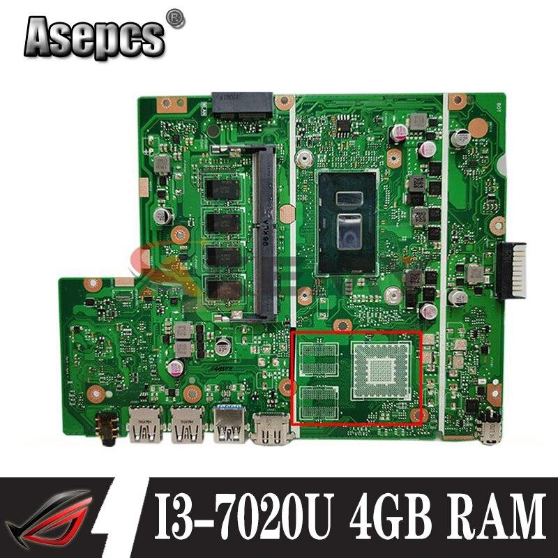 AKemy X540UAR لوحة الأم للكمبيوتر المحمول ASUS X540UBR X540UB X540UA X540U X540 اللوحة الأم I3-7020U 4GB RAM اختبار كامل 100%