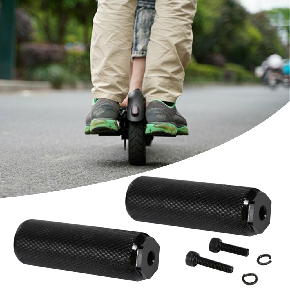 Scooter a Pedal Anti-slip monopatín trasero pies resto Pad eléctrico accesorios para Scooter para Xiaomi M365 Scooter 1 par