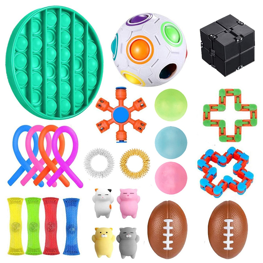 HOT SALE Fidget Toys 18/23/24/25/28PCS Pack Sensory Toy Set Antistress Relief Autism Anxiety Anti Stress Bubble for Kids Adults enlarge