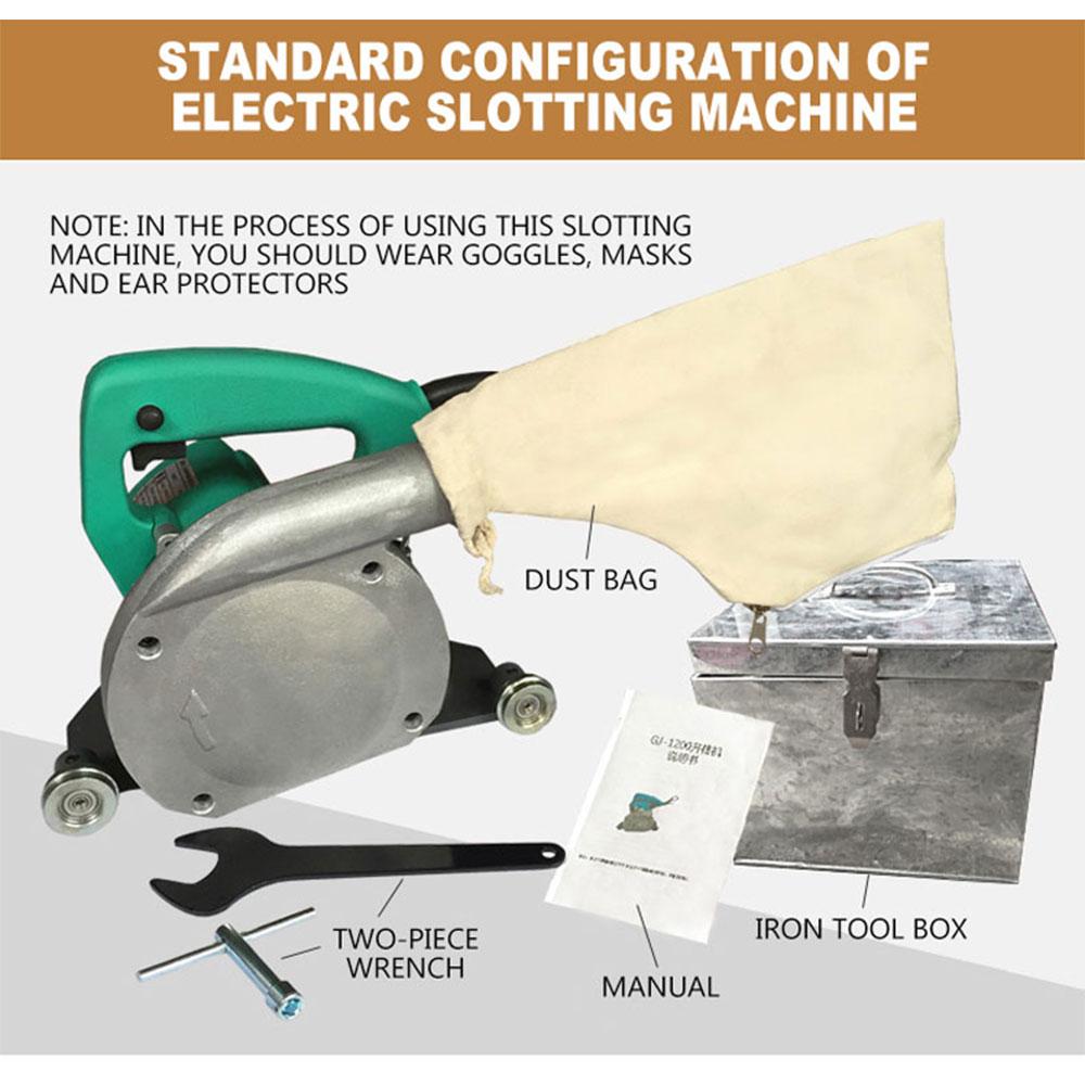 PVC Rubber Coiled Material Linen Sports Floor Electric Slotting Machine Dustproof Seam Slotter Slotting Blade
