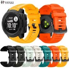 YAYUU Silicone Watch Band Strap for Garmin Instinct Smart Watch 22mm Replacement Band Wristband Wris