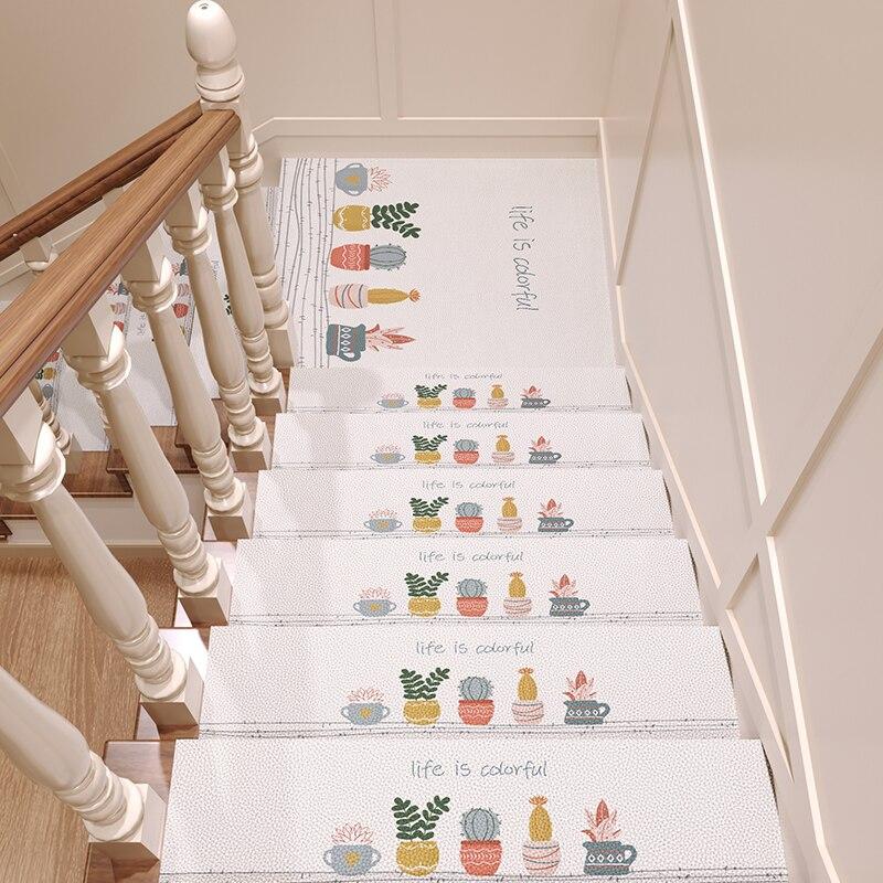 Коврики для ступенек по лестнице, домашний нескользящий коврик, самоклеящийся коврик для ступенек, можно разрезать