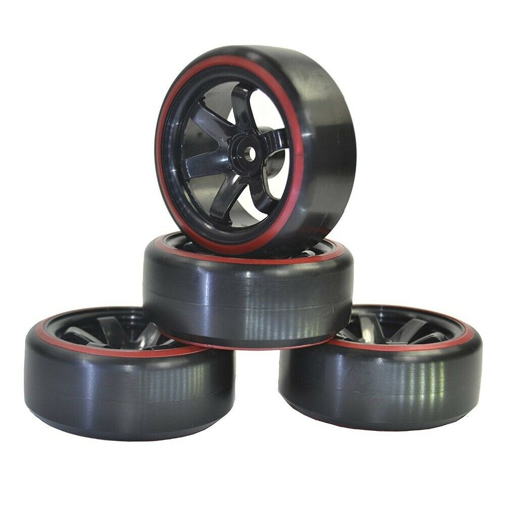 1:10 RC Car Plastic Wheel Rim & Tires for HPI Kyosho HSP 94123 94122 94103 D4 D3 High Wear-resistant and Crush-resistant