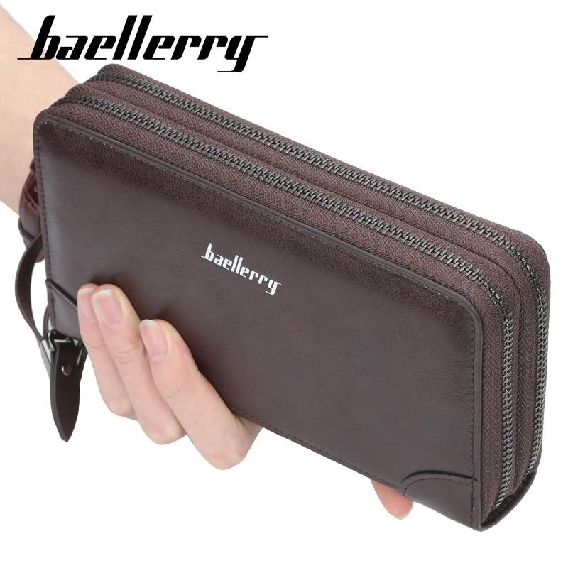 Name Engraving Baellerry Men's Long Purse Men Wallets Men Clutch Wallets Business Large Capacity Hig