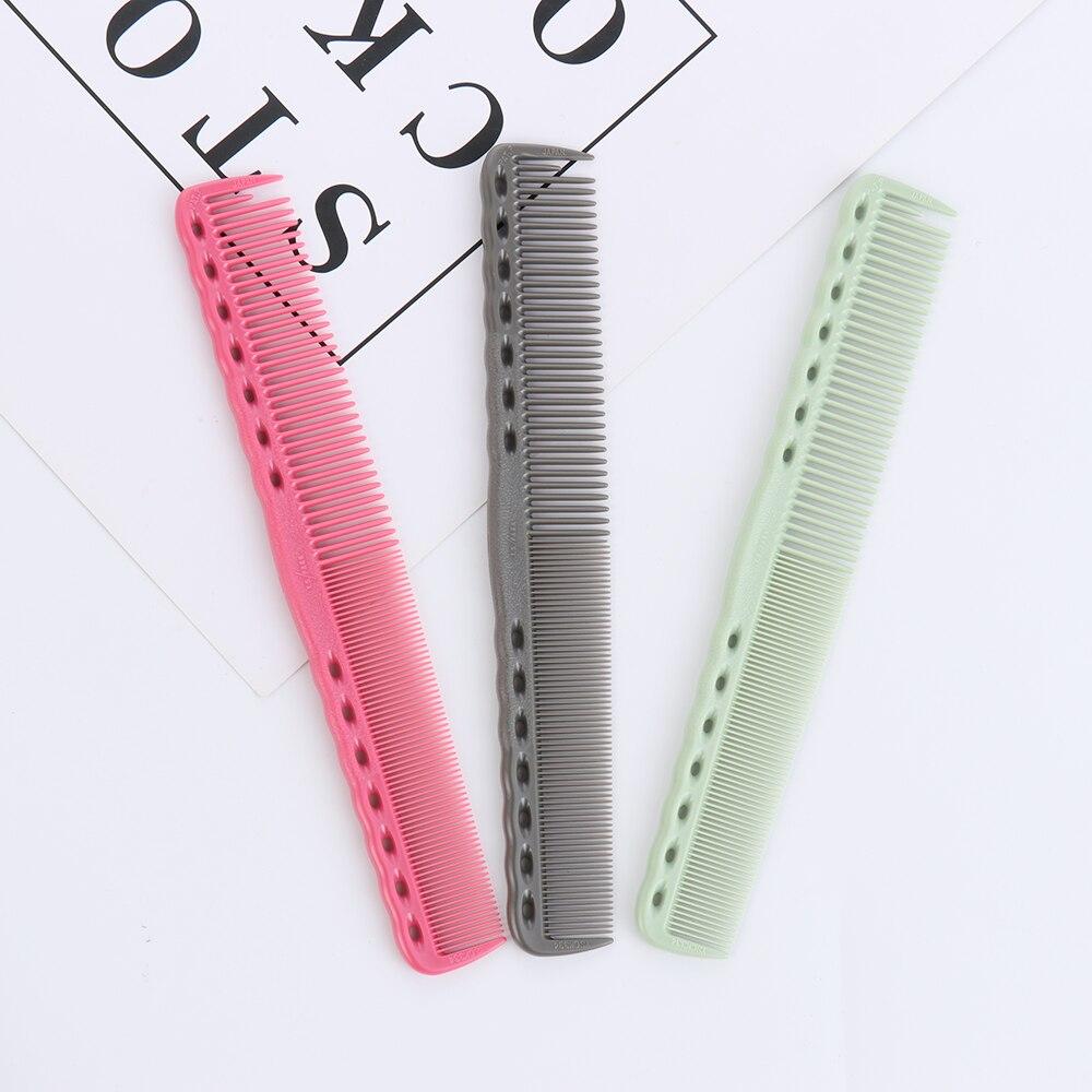 1 шт., расческа для расчесывания волос, цветная пластиковая расческа для стрижки волос, парикмахерская расческа, профессиональный антистатический инструмент для укладки волос в салон