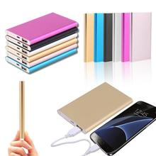 Ultra-thin 12000mah Power Bank  Portable  Charger USB Battery Mobile Power Supply for Smart Phone Ex