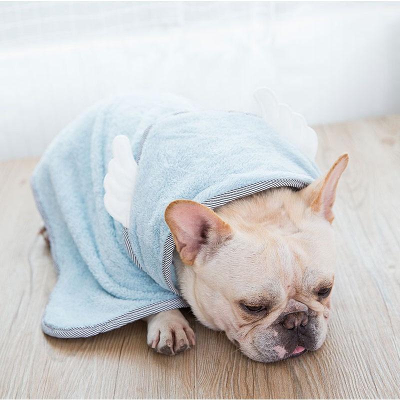 Toalha de microfibra absorvente, roupão de banho fofo para cachorros e gatos, para limpeza, secagem de banho s-L