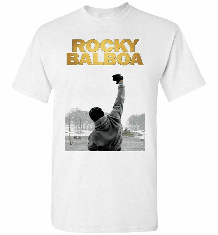 Rocky Balboa película hombres camisetas blanco Vintage gráfico camiseta