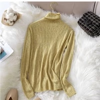 sweater womens turtleneck hollow out wool pullovers top korean fashion solid spring fall womens jumper sweet knitted sweater