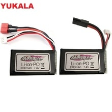 7.4V 1000MAH Lipo Battery For XLH Xinlehong 9130 9136 9137 Q901 Q902 Q903 1/16 2.4G RC Car Parts