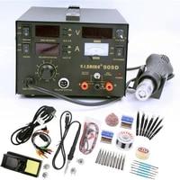 repair rework station saike 909d soldering station supply rework station 3 in 1 heat gun desoldering station