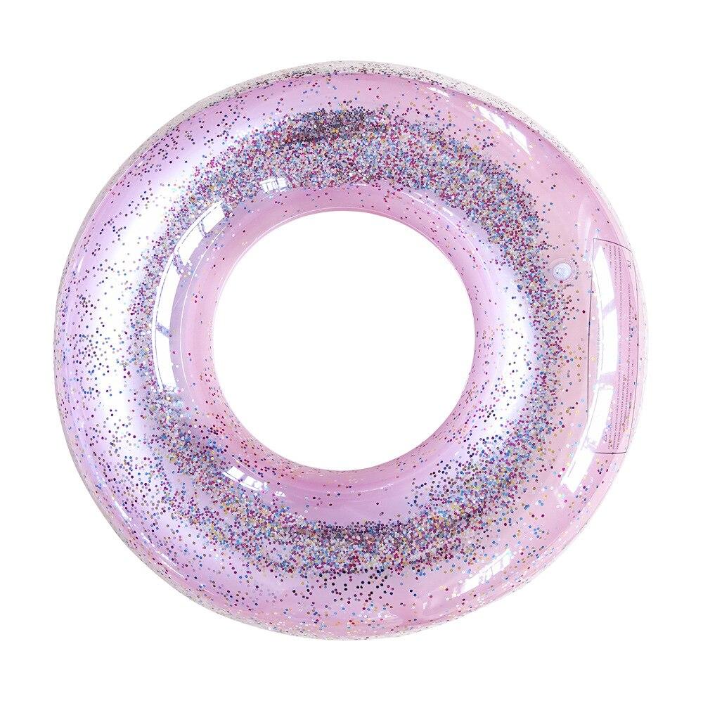 Anillo de natación de lentejuelas coloridas para adultos, flotador de piscina, flotador inflable para piscina de chico brillante, Círculo de natación para bebé, bote de piscina, anillo de natación de goma, juguetes de piscina