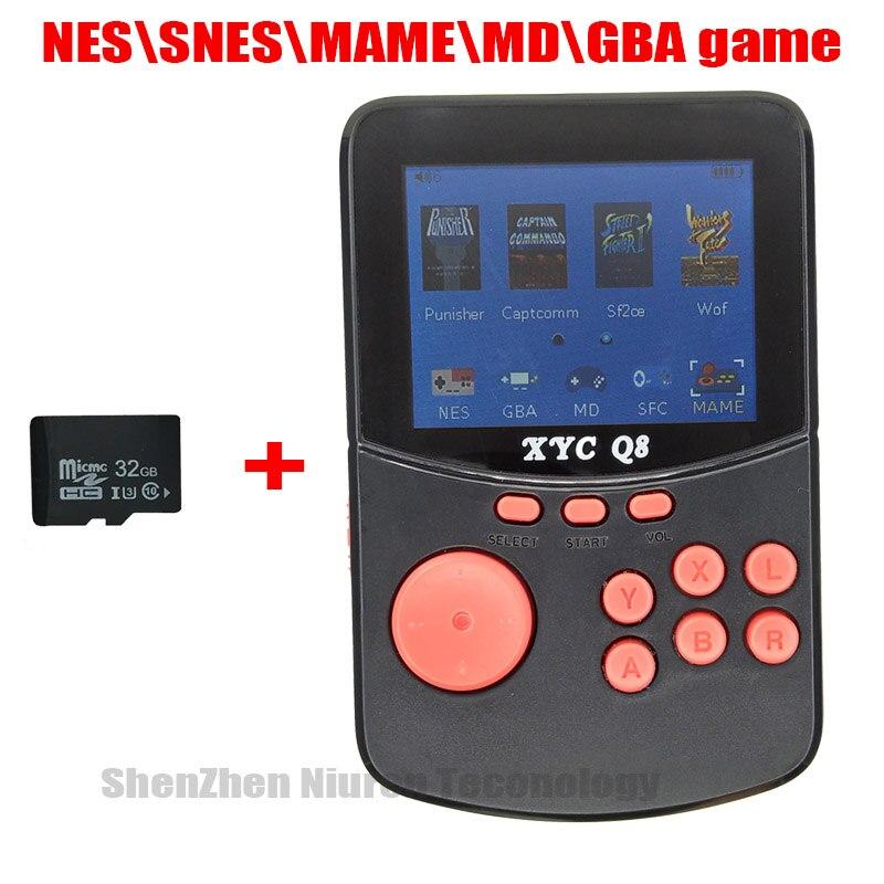 Con tarjeta TF de 512 M/32G, consola de videojuegos de mano Retro Para NES/SNES/MAME/MD/GBA, 16 bits, juegos de Arcade, 10000 juegos, salida de TV