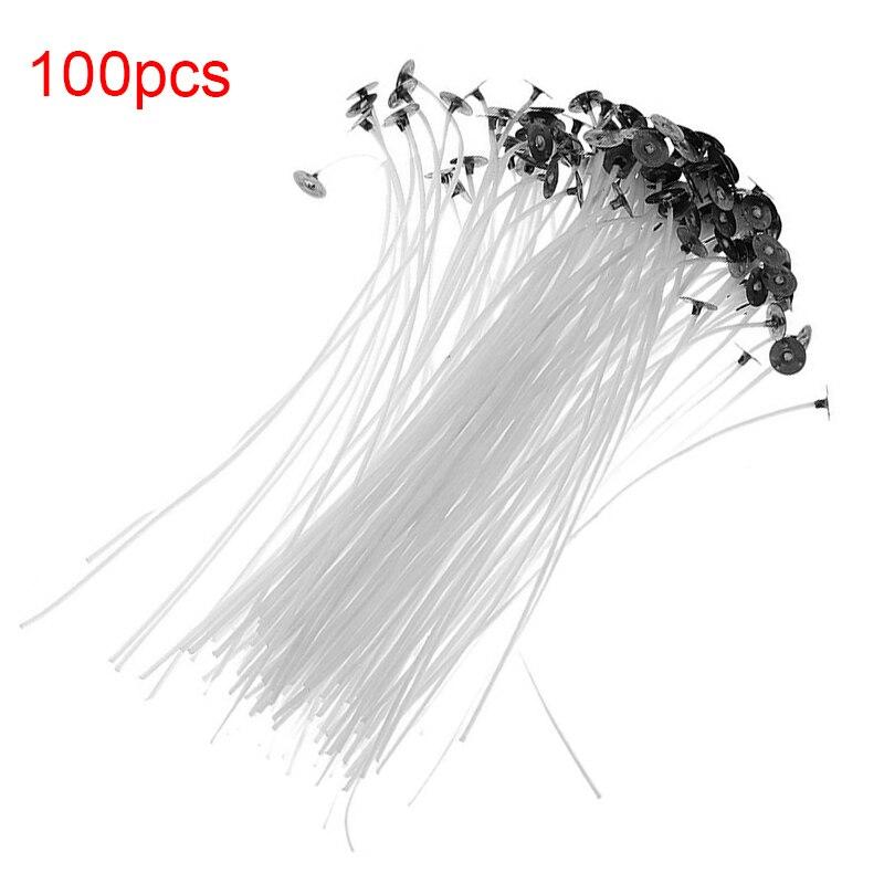 100 Uds. Vela de algodón de 9 / 15 / 20cm mecha sin humo vela de algodón vela de Navidad accesorios de decoración