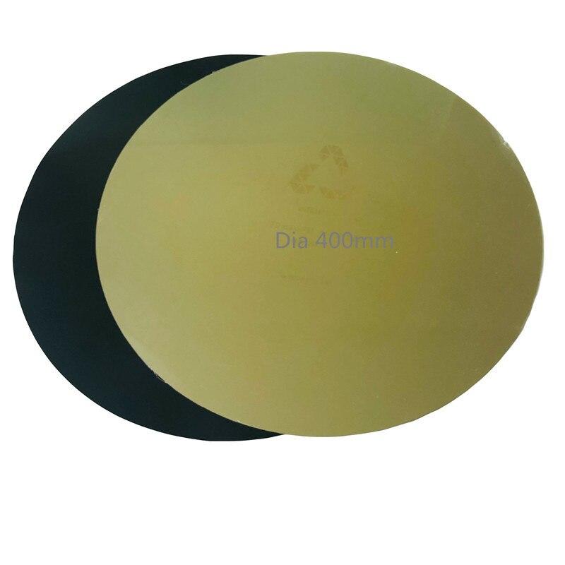 FLEXBED nouveau diamètre rond 260mm ressort en tôle dacier lit chauffant appliqué PEI plaque flexible avec mise à niveau de Base pour imprimante 3D Delta Kossel