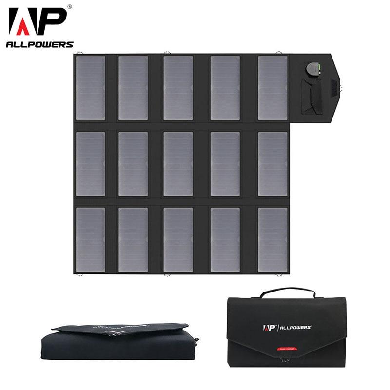 ALLPOWERS 100W 18V 12V Portable Solar Panel Foldable Solar Battery Charger for Laptop Mobile Phone