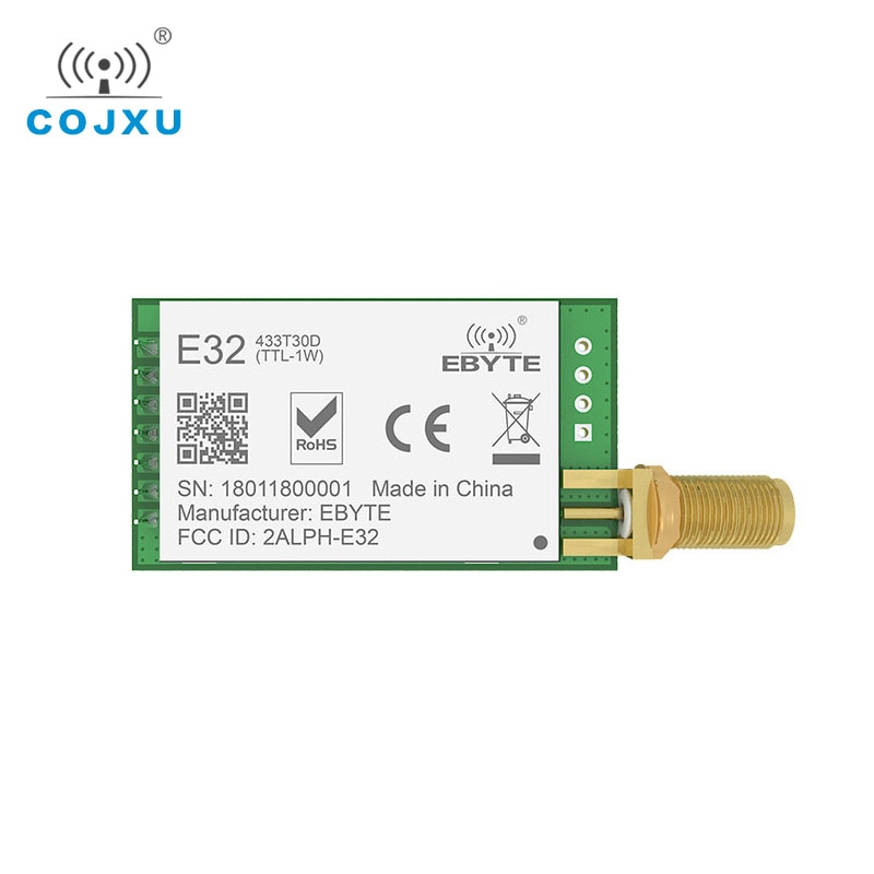 LoRa SX1278 SX1276 TXCO 433MHz 1W rf Module E32-433T30D lora Transmitter UART 433t30d Long Range 8000m Wireless rf Transceiver