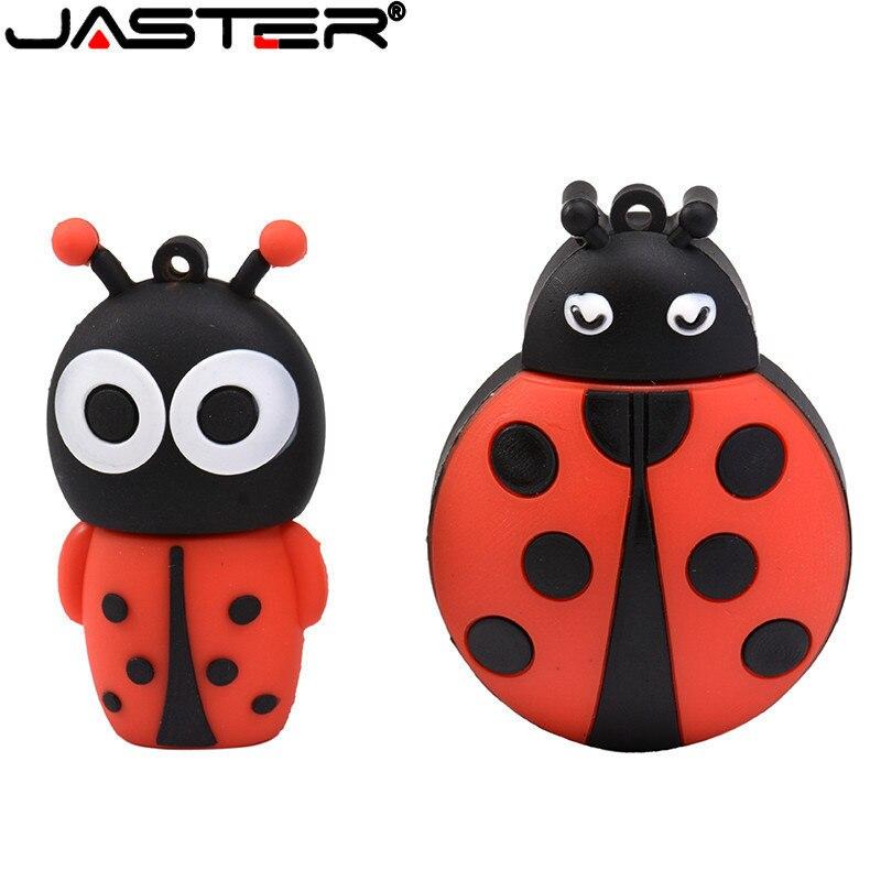 Unidad de disco de unidad usb JASTER flash, memoria usb de escarabajo, mini pendrive personalizado de 4gb ~ 64gb, usb 2,0 Ladybug cle