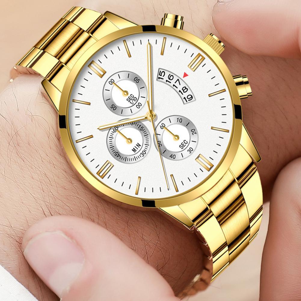 Casual Watch for Men Women Steel Strap Buckle Analog Quartz Watch Wrist Watches for Women Men Wristw