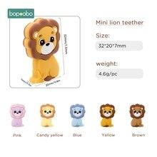 Bopoobo 3pc Silikon Beißring Food Grade Silikon Mini Lion Perlen Bpa Frei Baby Zahnen Für DIY Schnuller Anhänger Nagetiere perlen