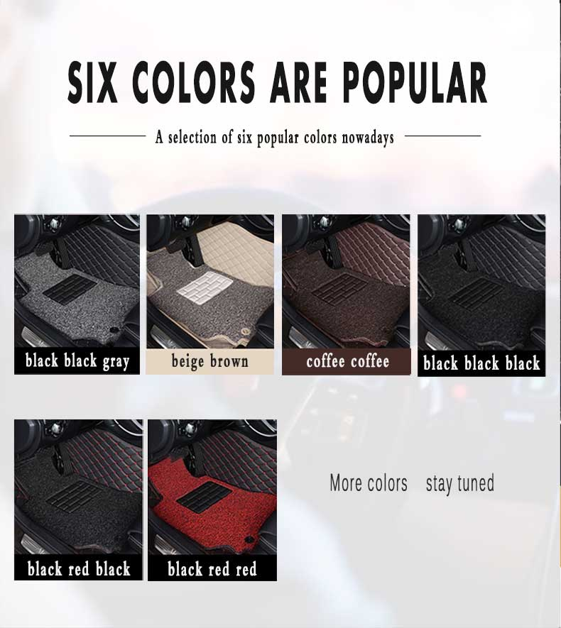 Double Layer Wire Loop Car Floor Mats Carpets For Hyundai Santa Fe 2018 2017 2016 2015 2014 2013 (5 Seater) Auto Interior Parts enlarge