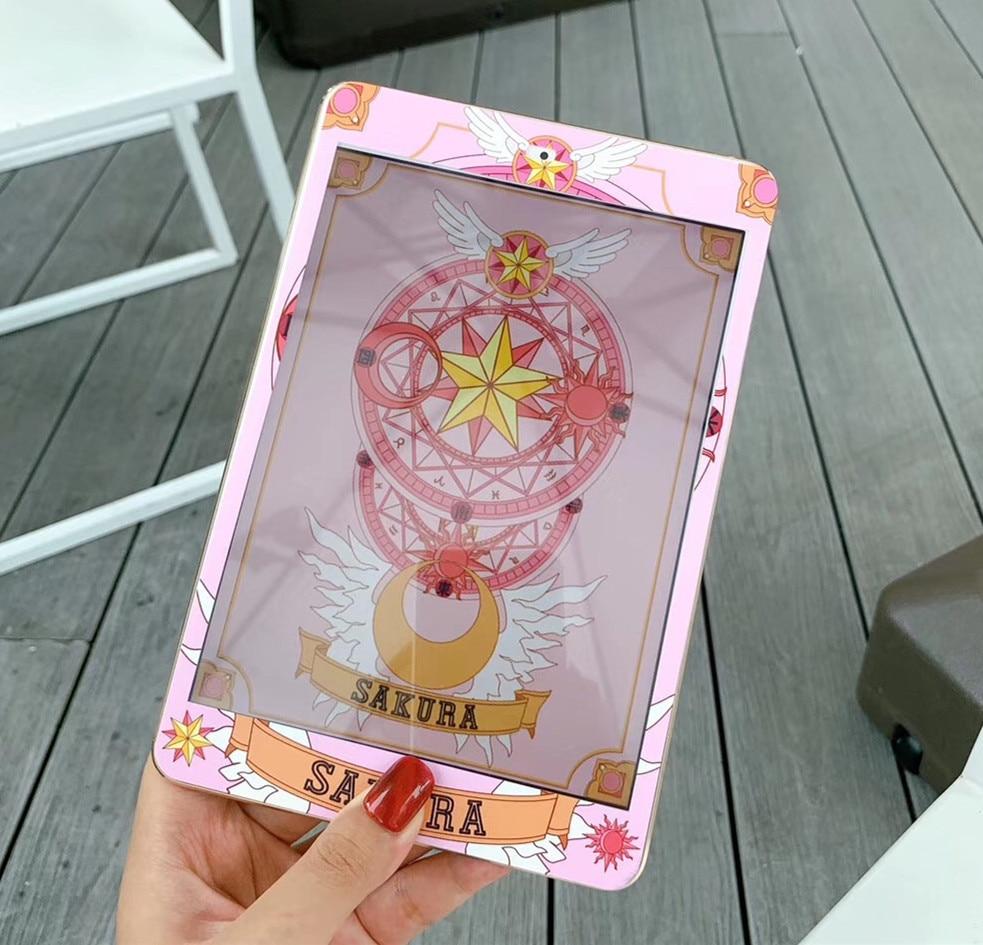 Protector de pantalla de vidrio templado de 7,9 pulgadas con patrón de Sakura bonito Sailor Moon Strawberry Cardcaptor para iPad Mini 1/2/3