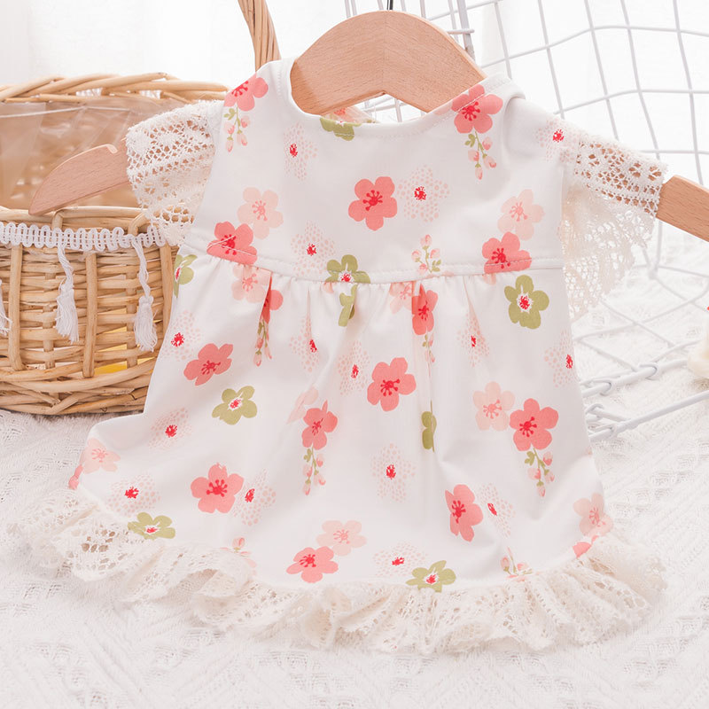 Summer Lace Dress Cat Teddy Pomerang Teacup Small Puppies Thin Princess Dog puppy clothes  dog costumes