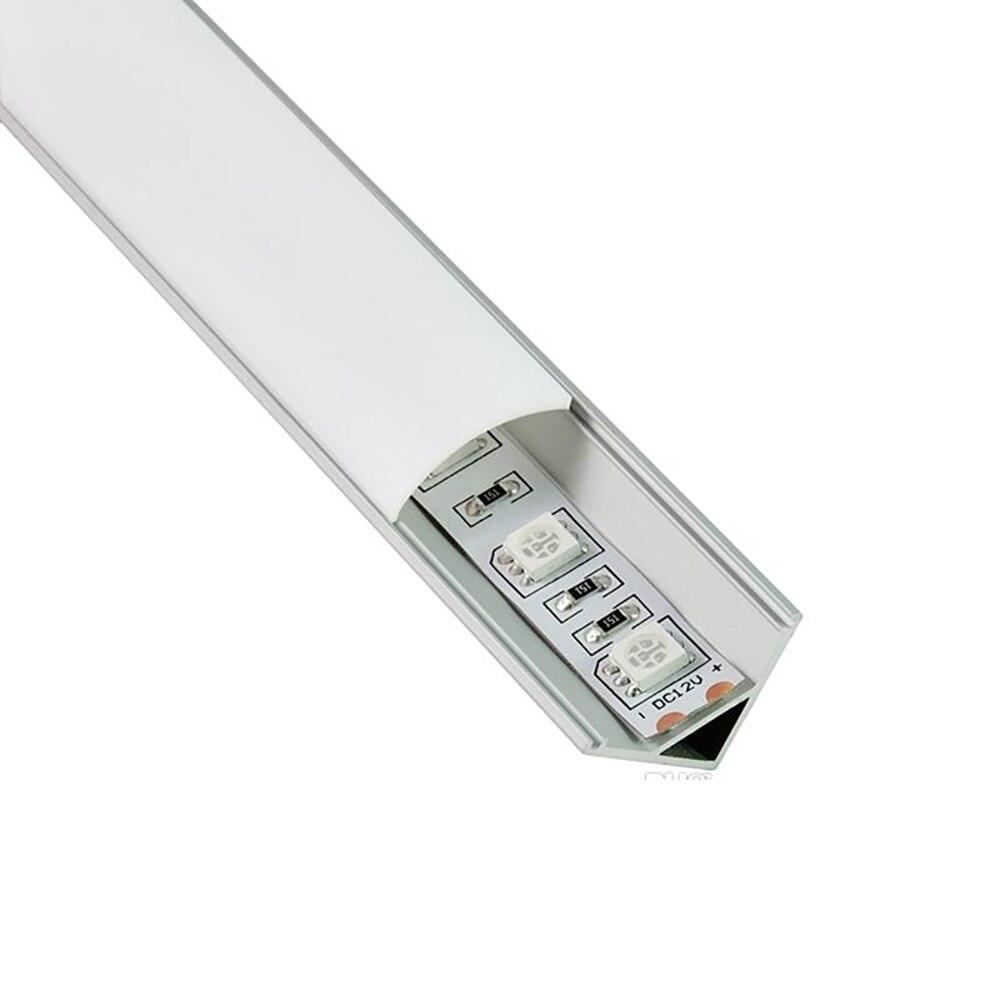 50 Sets/lot 1M 100CM V Shape Led Strip Aluminium Profile And 60 Degree Channel Profile For Kitchen Led Or Cabinet Lights enlarge