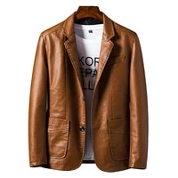 2021 long pu faux leather blazers leather jacket coat brand new trend slim youth popular casual youth jackets outerwear coats