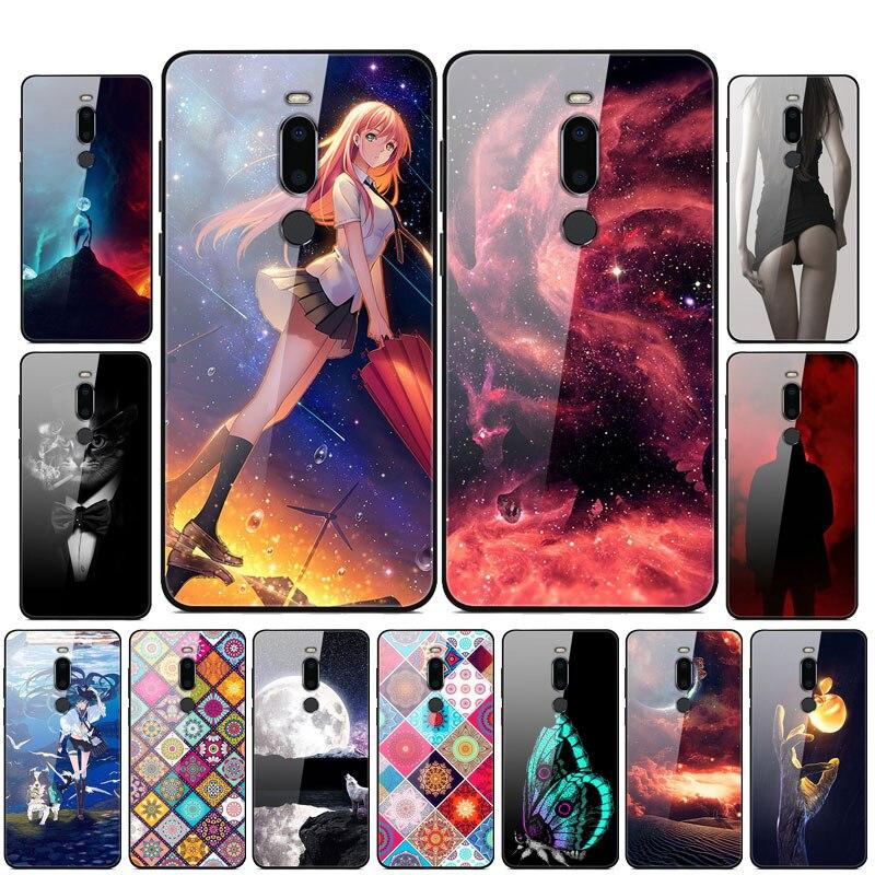 Funda para Meizu X8, fundas de teléfono duras de cristal templado para Meizu X8, carcasa de TPU, carcasa para MeizuX8 X 8 8X Funda