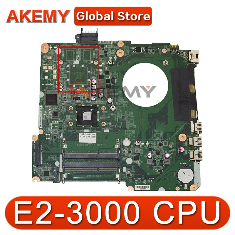 AKemy اللوحة لابتوب HP جناح 15-N 15-F اللوحة 781935-001 781935-501 783324-501 DA0U93MB6D0 E2-3000