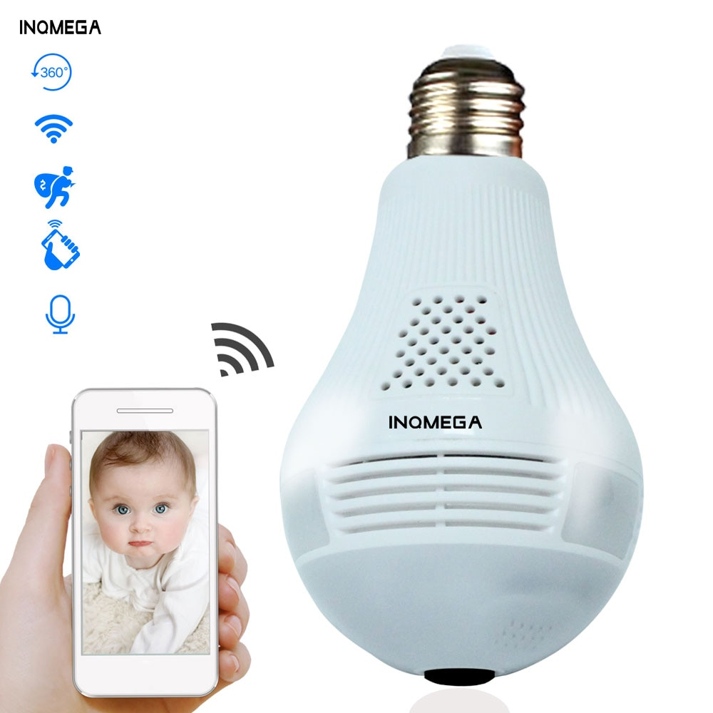 Hot saleINQMEGA 360 Degree LED Light 1080P Wireless Panoramic Home Security WiFi CCTV Fisheye Bulb L