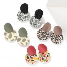 AENSOA-boucles doreilles pour femmes, rondes et irrégulières, bijoux de fête, mode, géométrique léopard, colorées, nouvelle collection 2020