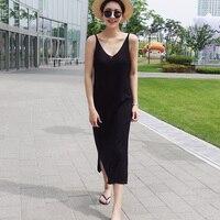 Skirt Summer Women\'s 2021 New Suspender Skirt Women\'s Summer Outer Wear V-neck Modal Vest Long Skirt Women\'s Idle Style Chic