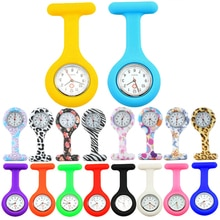 Hot Sell Fashion Pocket Watches Silicone Nurse Watch Brooch Tunic Fob Watch With Free Battery Doctor