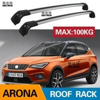2Pcs Roof Bars for Seat Arona 5-dr SUV 2017-2020 Aluminum Alloy Side Bars Cross Rails Roof Rack Luggage CUV SUV