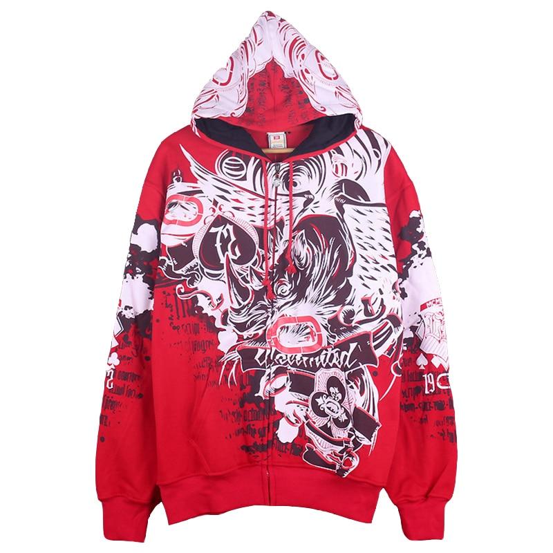 Fashion Cool Men Hip Hop Hoodies 100%Cotton Casual Sweatshirts Streetwear Man Loose Pullover Harajuku Printed Hoodie Coat Male