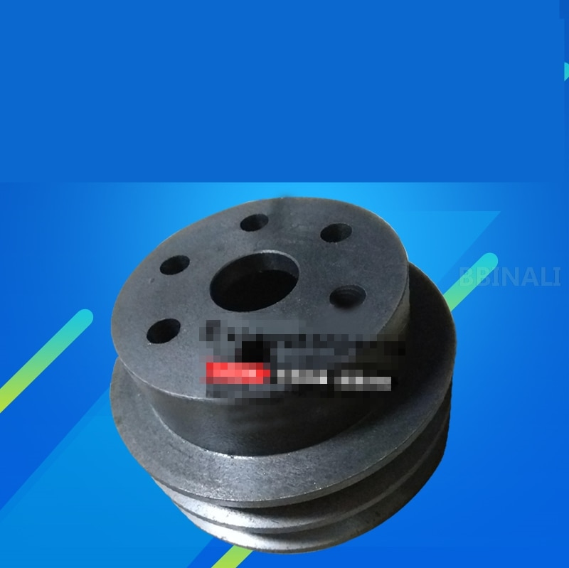 Para kobelco sk hitachi zx caterpillar cat 120/4bd1/4bg1/4jb1 máquina escavadora motor pequeno ventilador bomba de água polia escavadora acessórios