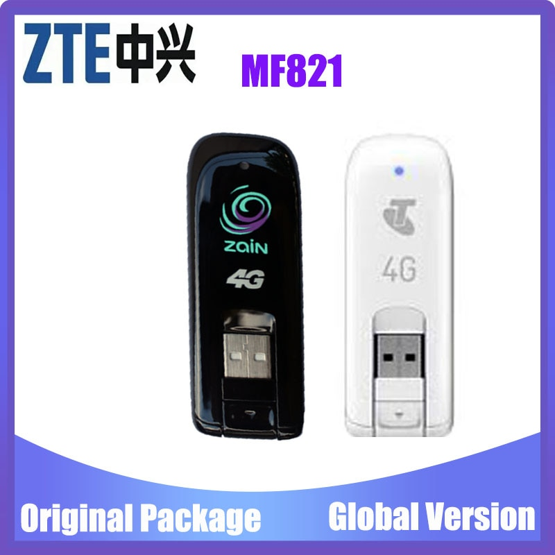 Original Unlocked ZTE MF821 MF821D 4G 3G LTE USB Dongle USB Stick Mobile Broadband Modem internet key PK MF823 MF831 MF820
