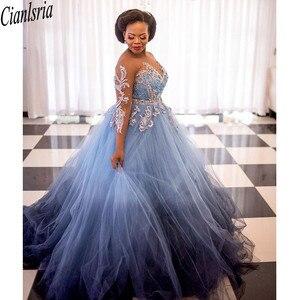 Newest 2021 Quinceanera Dresses Sheer Neck Beaded Applique Aso Ebi Prom Dress Buttons Back Long Tulle Plus Size Vestidos De Fies