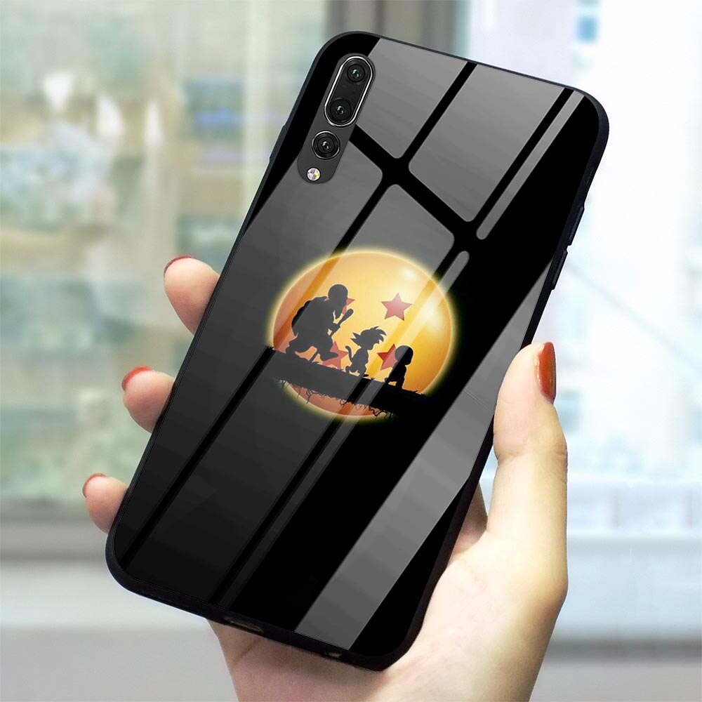 Чехол Goku Dragon Ball из закаленного стекла для телефона Huawei P Smart, 2019, Mate 20 Lite Honor 9 10 Lite 7A P10 P20 P30 PRO P Smart