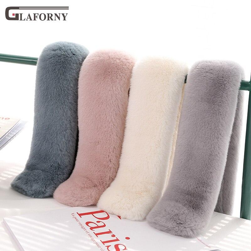 2019 Korean version new female elegant and simple whole skin suction buckle rex rabbit fur scarf winter women fur neckerchief