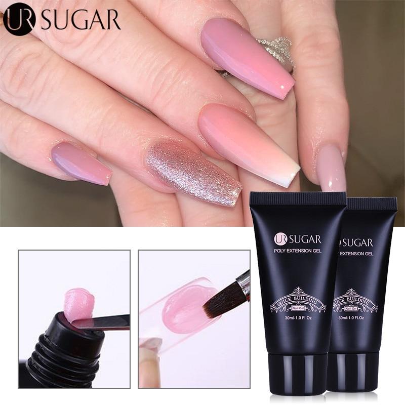 Гель для ногтей UR SUGAR, 30 мл, полигель для наращивания, УФ-гель для наращивания, гелевый акриловый гель для ногтей, СВЕТОДИОДНЫЙ УФ-гель