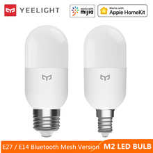 Yeelight Smart LED Bulb M2 Bluetooth Mesh E27 E14 Dimmable light Lamp Color temperature APP control For Xiaomi mi home Homekit