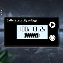 Indicateur de capacité de batterie DC 8V-100V plomb acide Lithium LiFePO4 voiture moto voltmètre jauge de tension 12V 24V 48V 72V