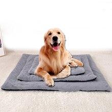 Alfombra suave de franela para perro mascota invierno gruesa cama caliente para perro ambos lados puede usar manta de gato lavable Peluche de Mascota para cama Envío Directo